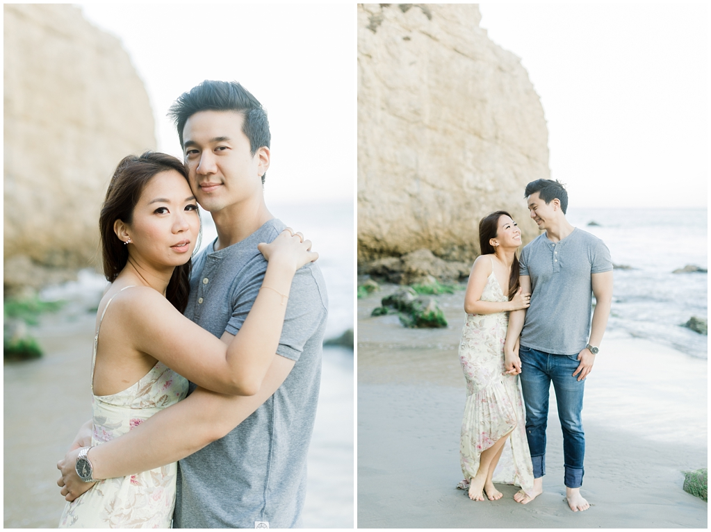 A classic California beach engagement session in Malibu by natural light wedding photographer, Madison Ellis Photography. (3)