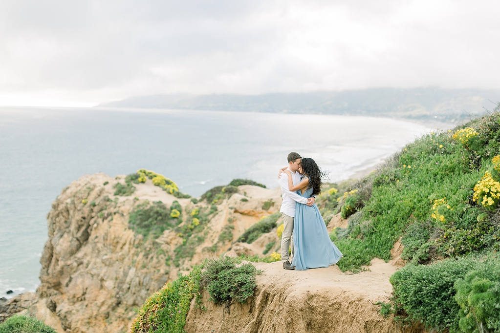 Malibu Cliff Side Engagement Session at Point Dume by Madison Ellis Photography (39)