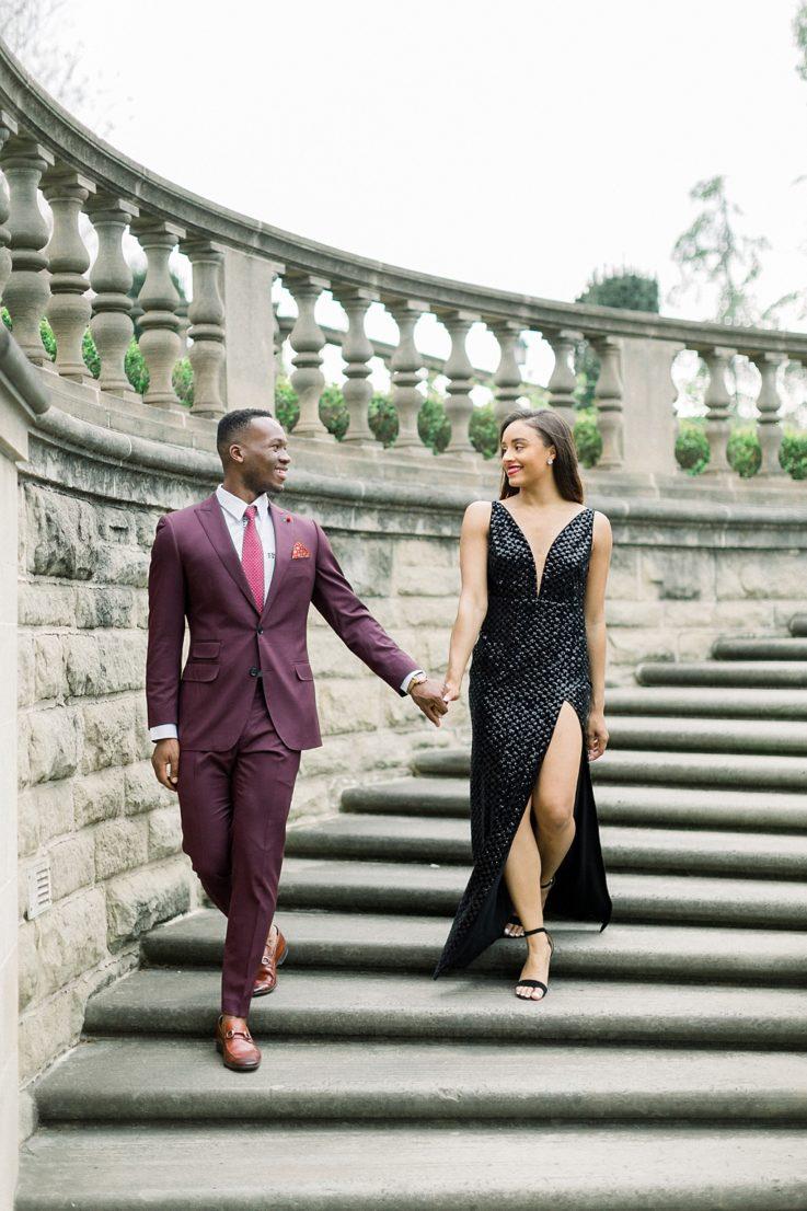 Glamorous European engagement photos at Greystone Mansion by Madison Ellis Photography (1)