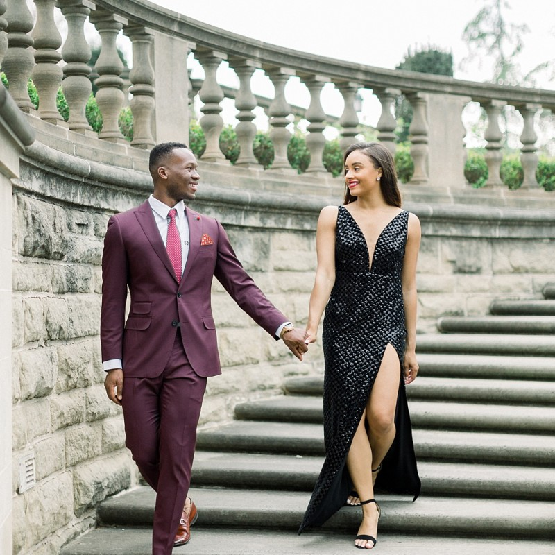 Glamorous European engagement photos at Greystone Mansion by Madison Ellis Photography (1)