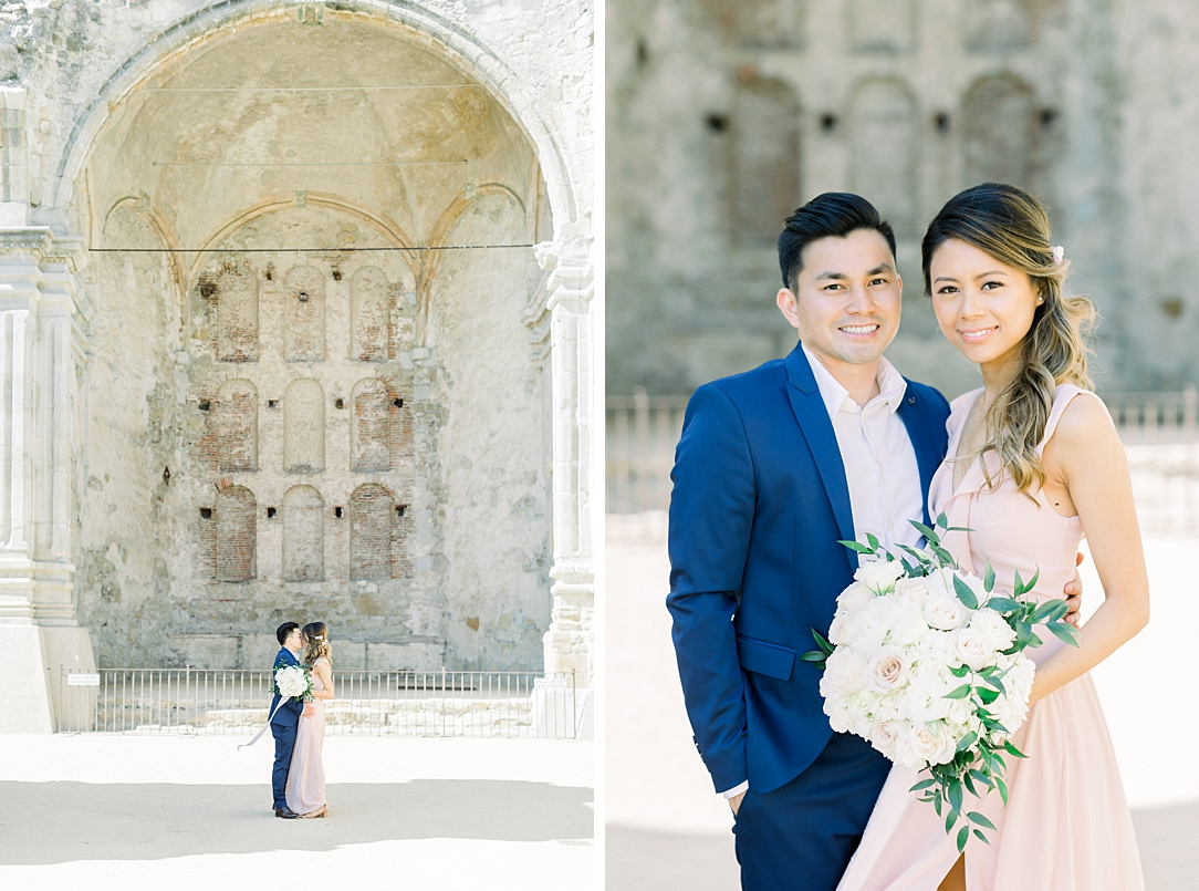 Film inspired engagement session at San Juan Capistrano Mission by Madison Ellis Photography (41)
