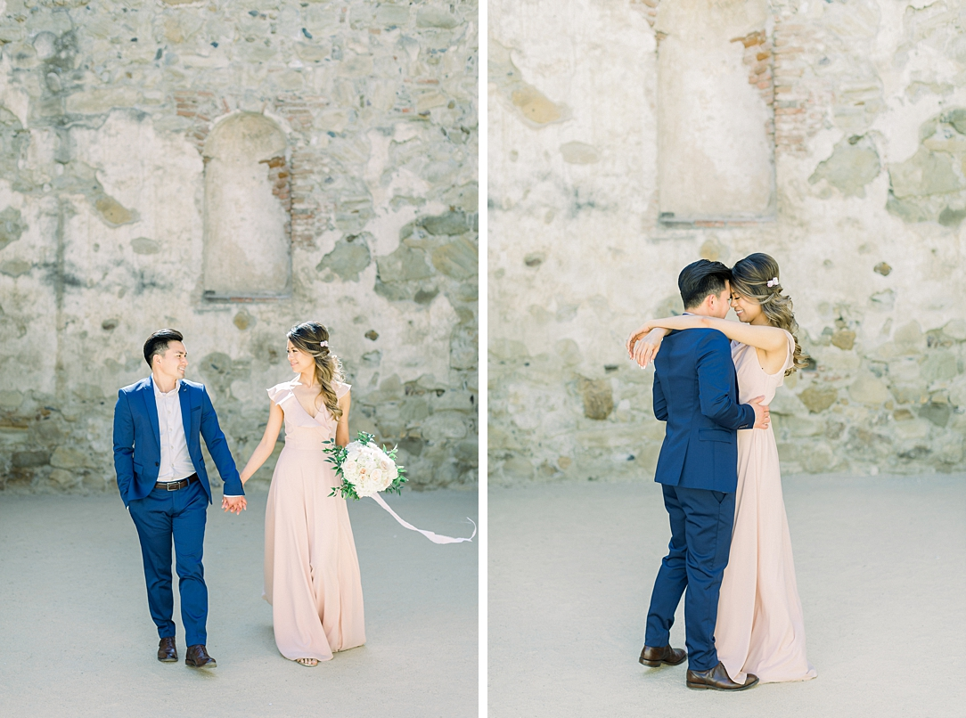 Film inspired engagement session at San Juan Capistrano Mission by Madison Ellis Photography (36)