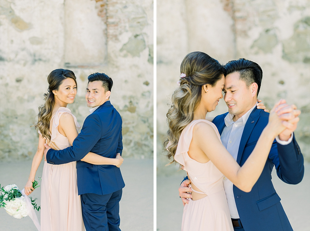 Film inspired engagement session at San Juan Capistrano Mission by Madison Ellis Photography (35)