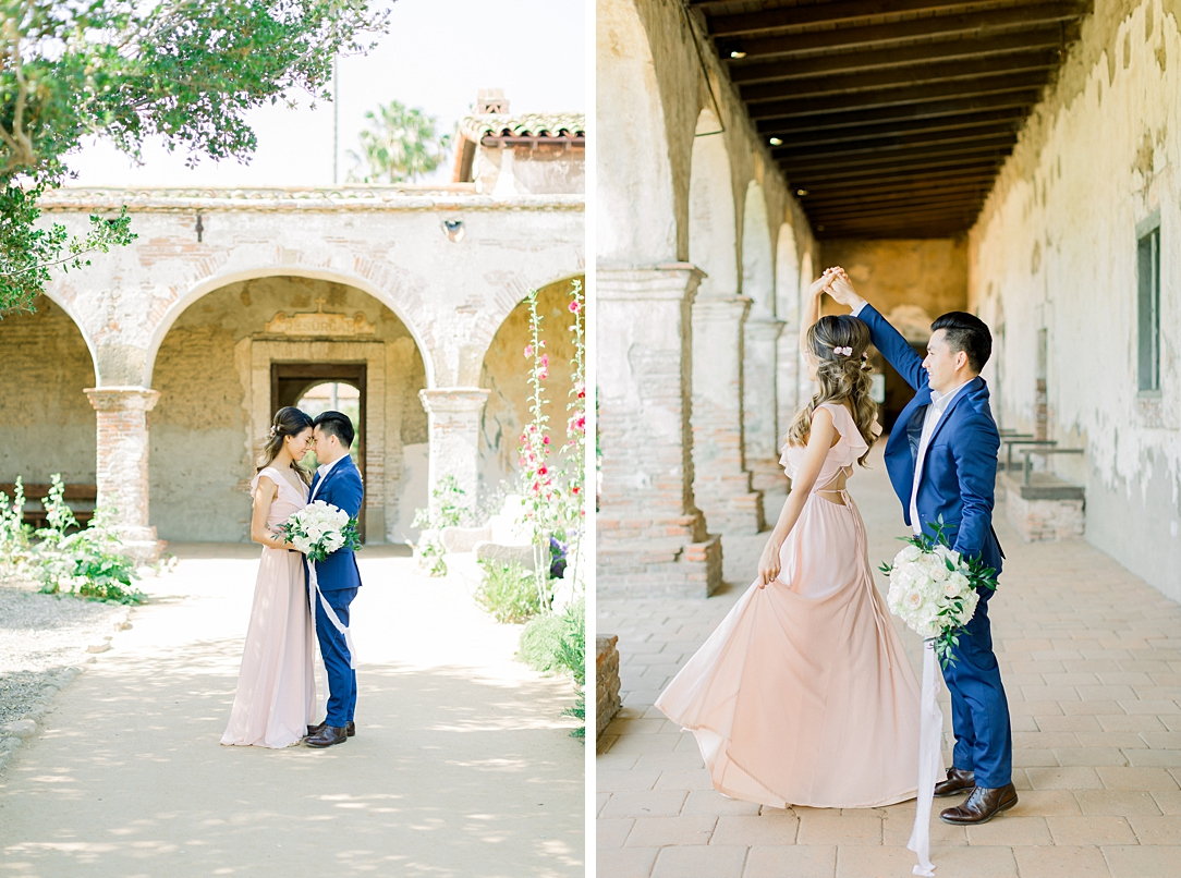 Film inspired engagement session at San Juan Capistrano Mission by Madison Ellis Photography (30)