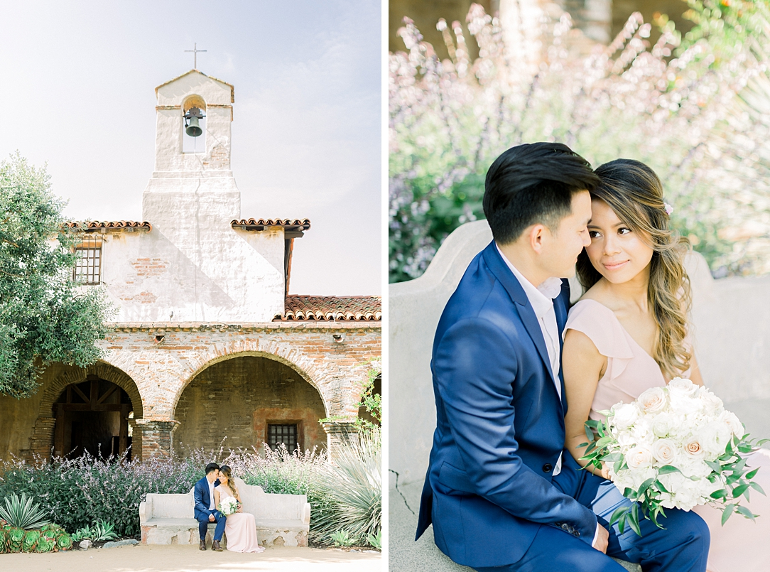 Film inspired engagement session at San Juan Capistrano Mission by Madison Ellis Photography (29)