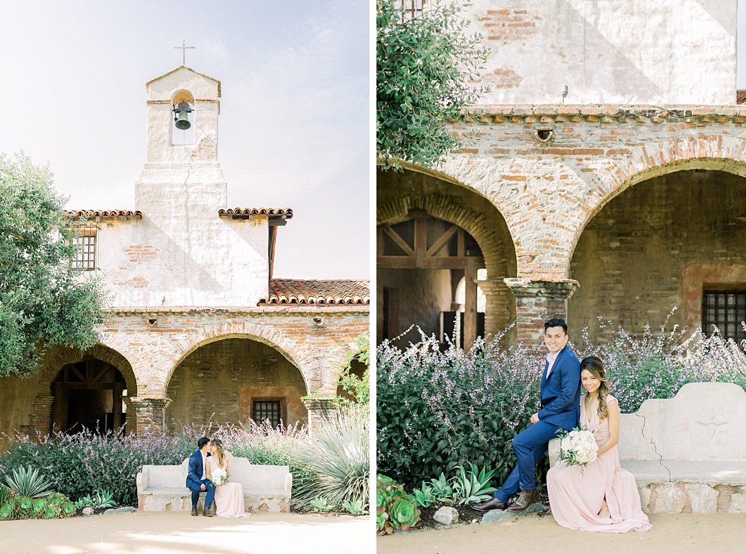 Film inspired engagement session at San Juan Capistrano Mission by Madison Ellis Photography (28)