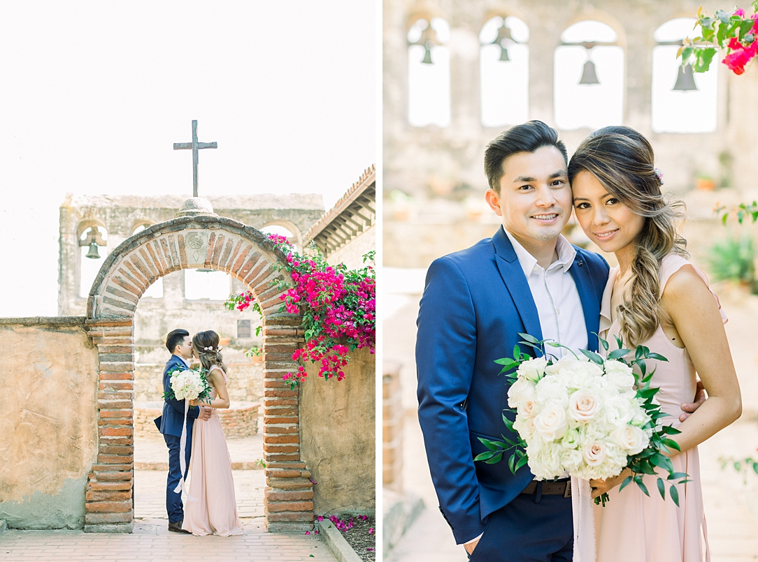 Film inspired engagement session at San Juan Capistrano Mission by Madison Ellis Photography (27)