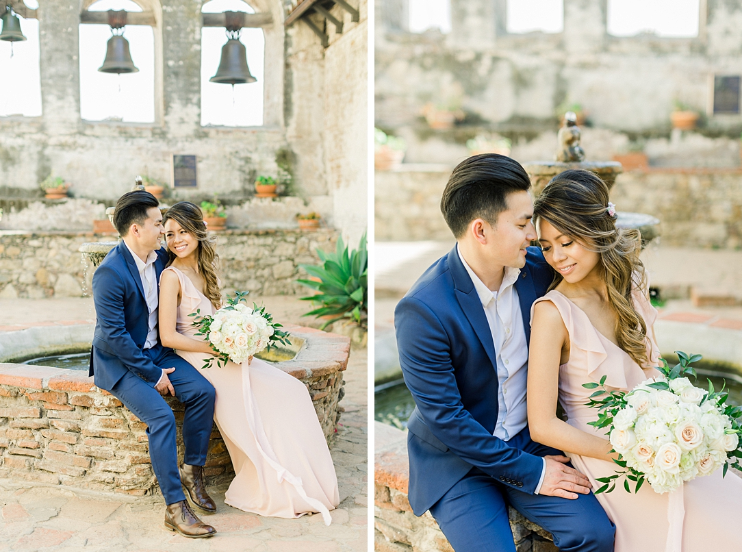 Film inspired engagement session at San Juan Capistrano Mission by Madison Ellis Photography (26)