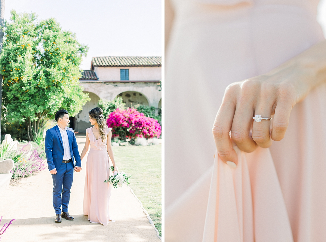 Film inspired engagement session at San Juan Capistrano Mission by Madison Ellis Photography (22)