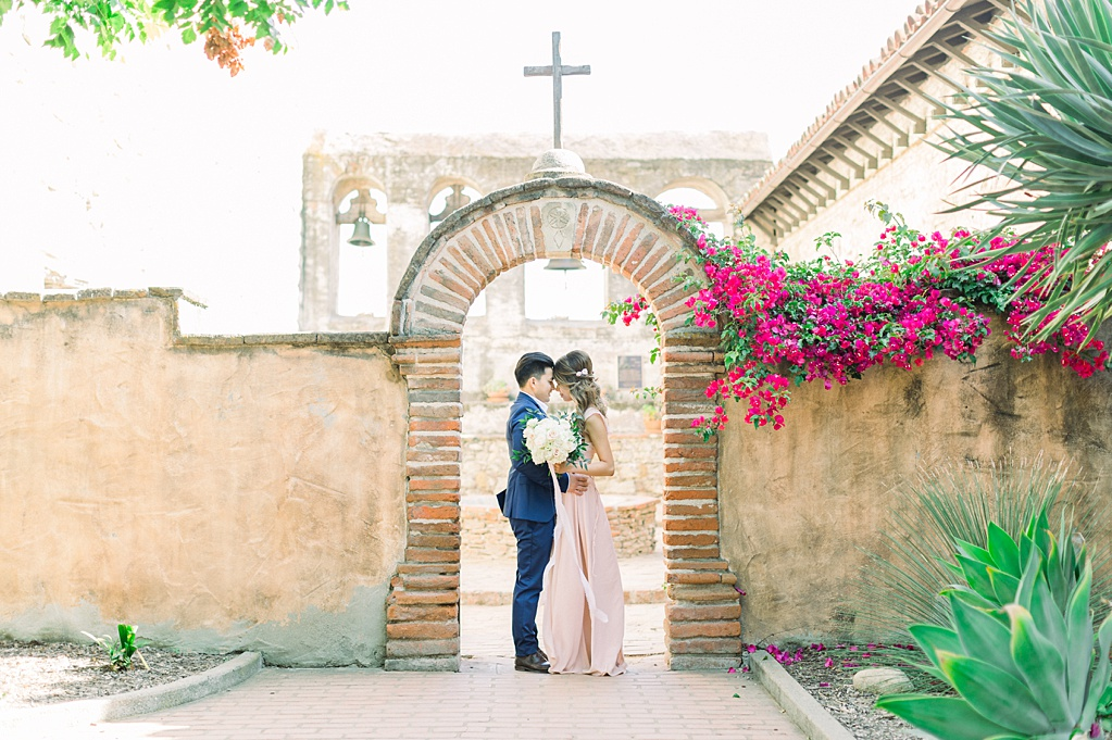 Film inspired engagement session at San Juan Capistrano Mission by Madison Ellis Photography (10)