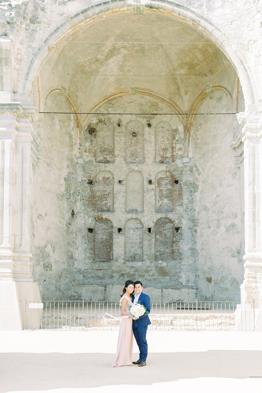 Film inspired engagement session at San Juan Capistrano Mission by Madison Ellis Photography (1)