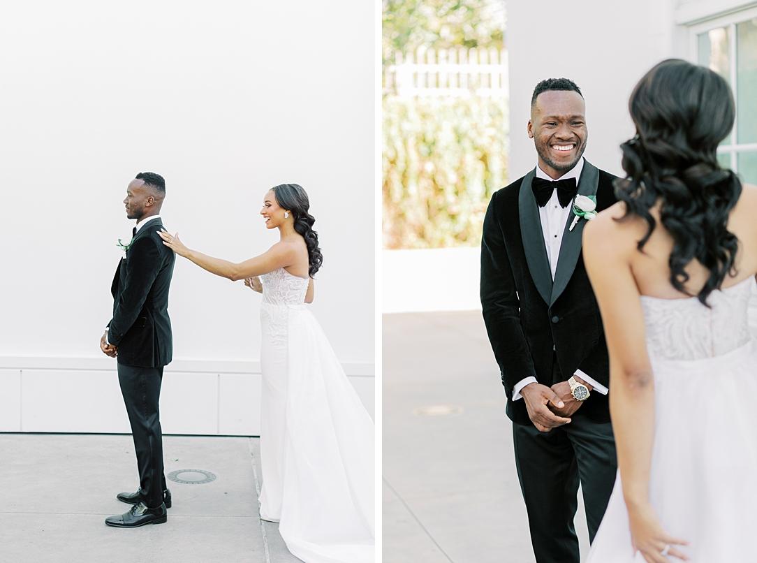 A modern luxurious African inspired fall wedding, in the Richard Nixon Library garden, Yorba Linda by wedding photographer Madison Ellis (99)