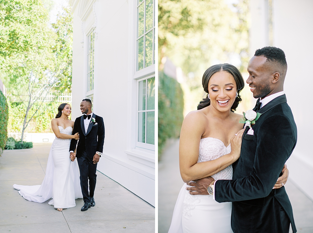 A modern luxurious African inspired fall wedding, in the Richard Nixon Library garden, Yorba Linda by wedding photographer Madison Ellis (88)