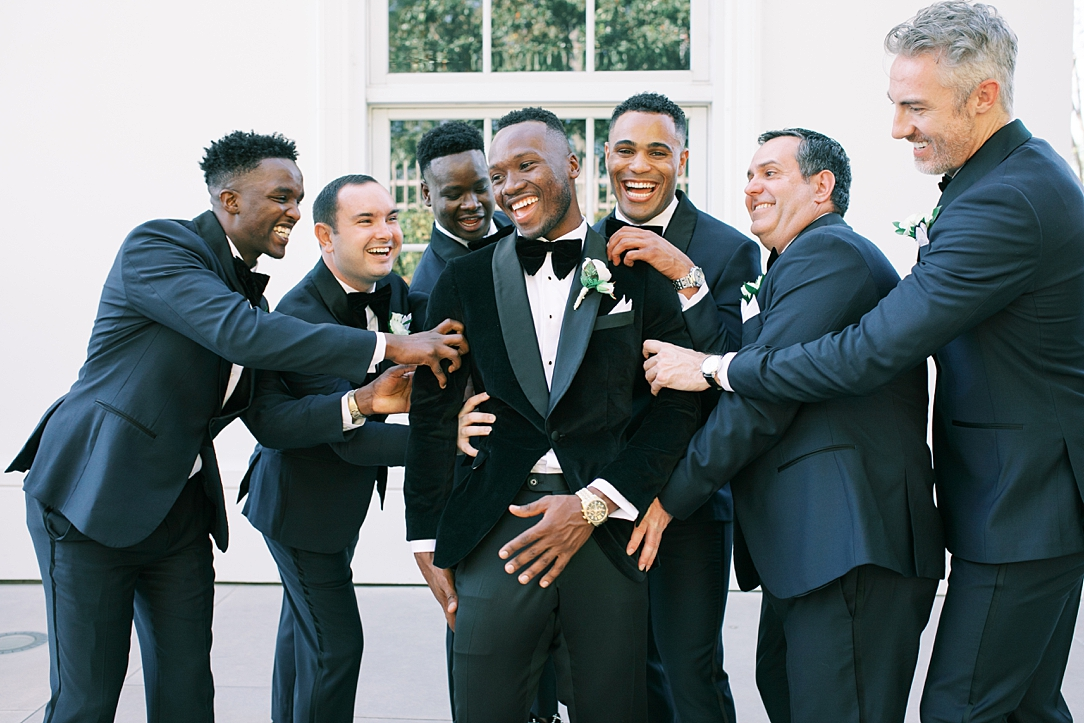 A modern luxurious African inspired fall wedding, in the Richard Nixon Library garden, Yorba Linda by wedding photographer Madison Ellis (65)