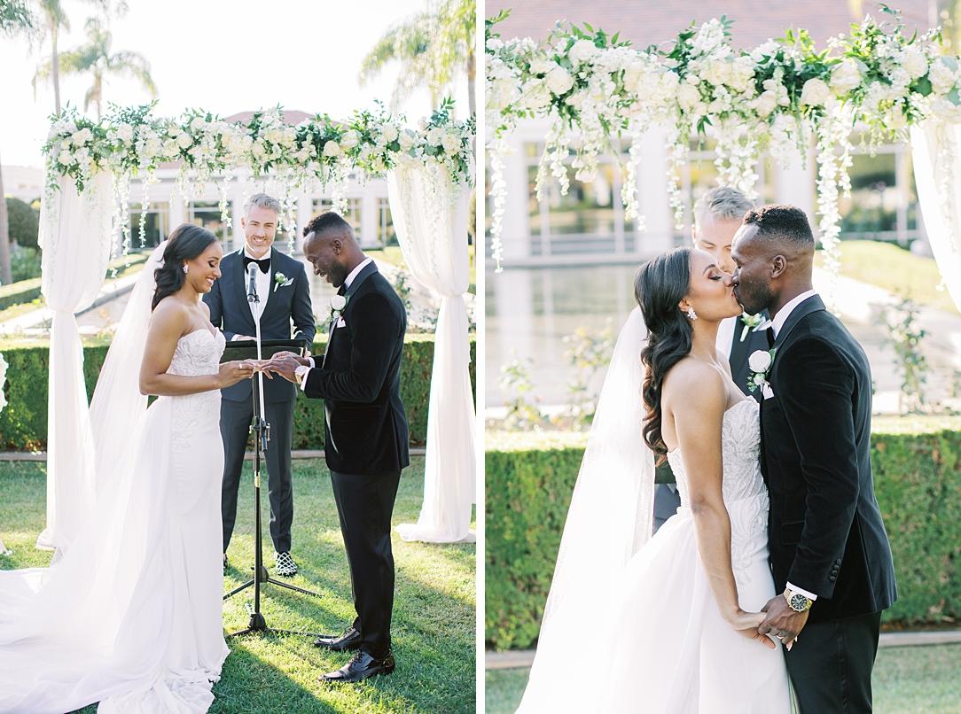 A modern luxurious African inspired fall wedding, in the Richard Nixon Library garden, Yorba Linda by wedding photographer Madison Ellis (29)