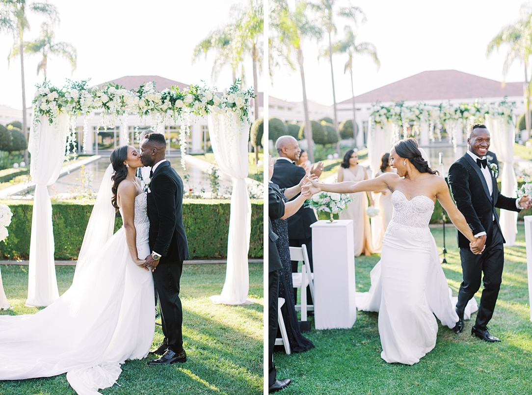 A modern luxurious African inspired fall wedding, in the Richard Nixon Library garden, Yorba Linda by wedding photographer Madison Ellis (27)