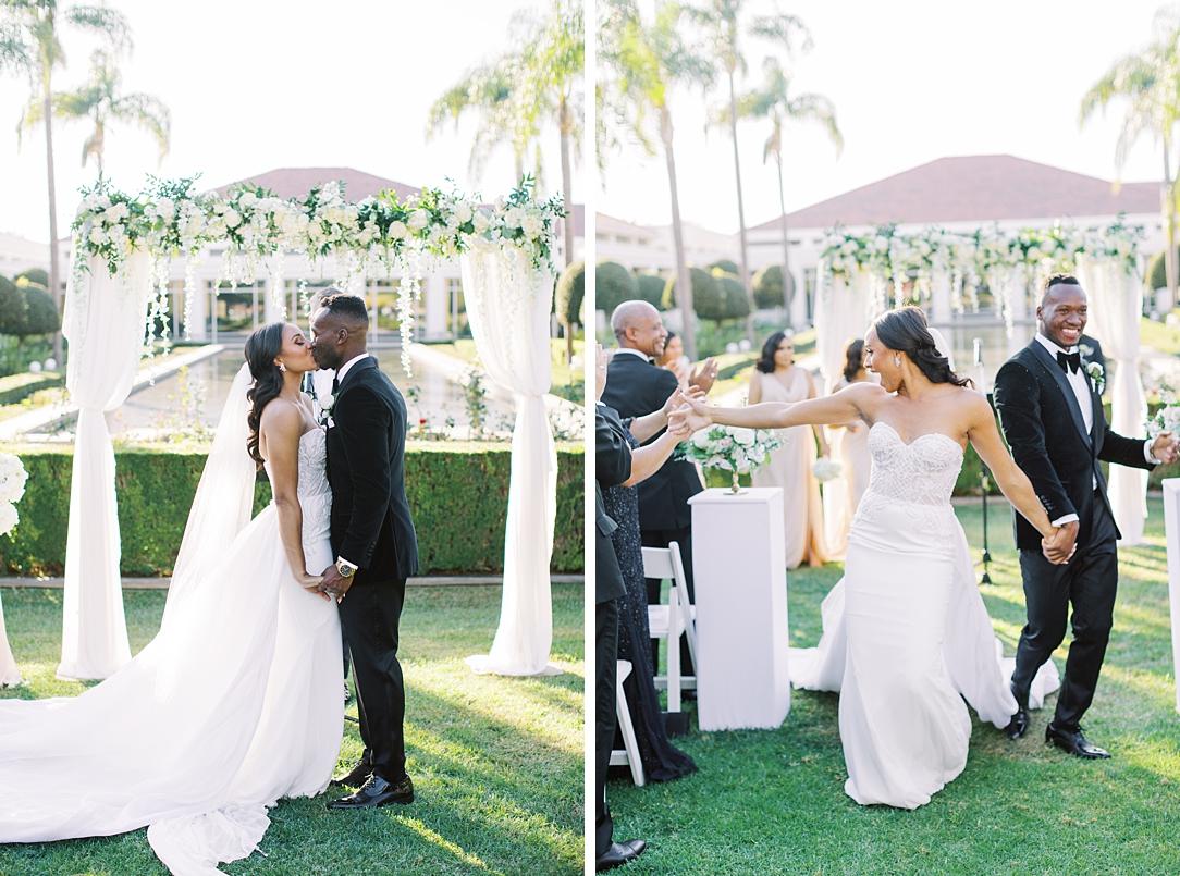 A modern luxurious African inspired fall wedding, in the Richard Nixon Library garden, Yorba Linda by wedding photographer Madison Ellis (27)