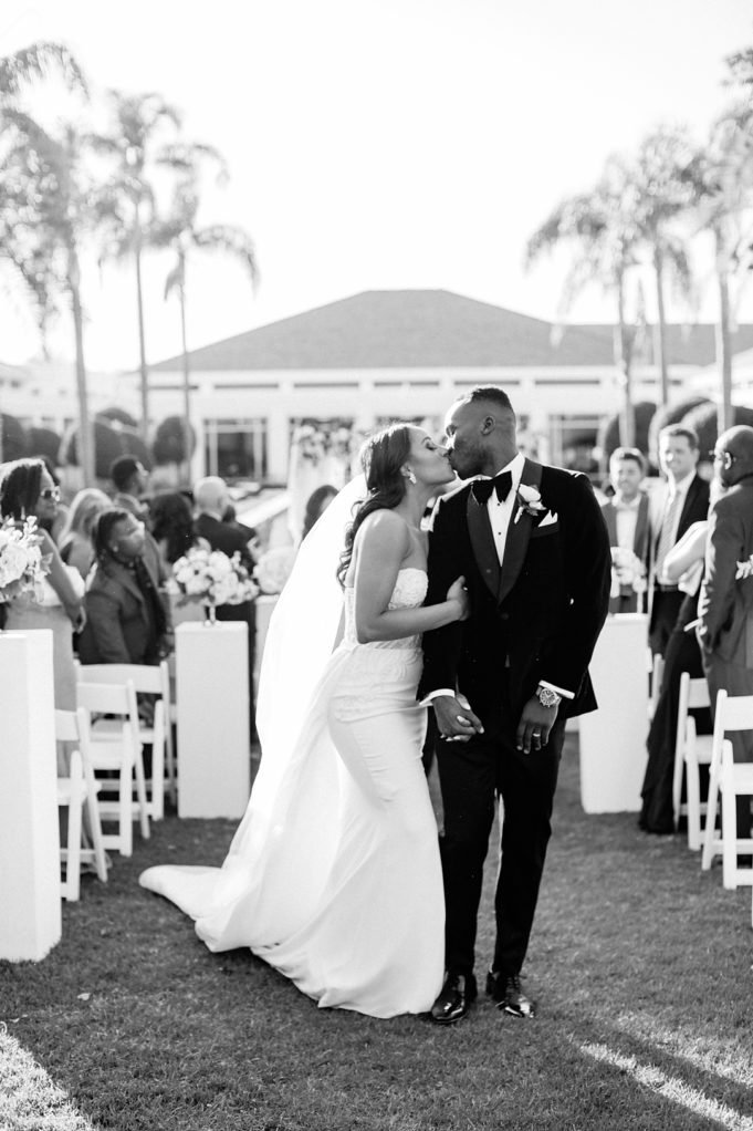 A modern luxurious African inspired fall wedding, in the Richard Nixon Library garden, Yorba Linda by wedding photographer Madison Ellis (21)