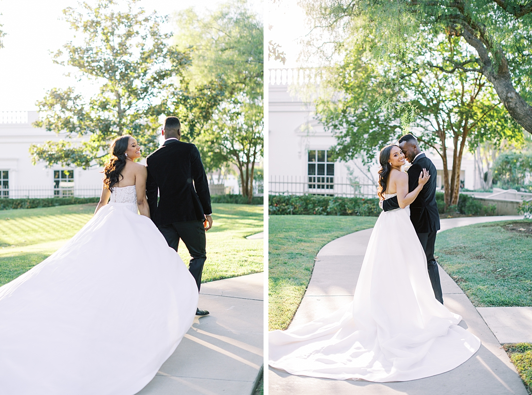 A modern luxurious African inspired fall wedding, in the Richard Nixon Library garden, Yorba Linda by wedding photographer Madison Ellis (16)