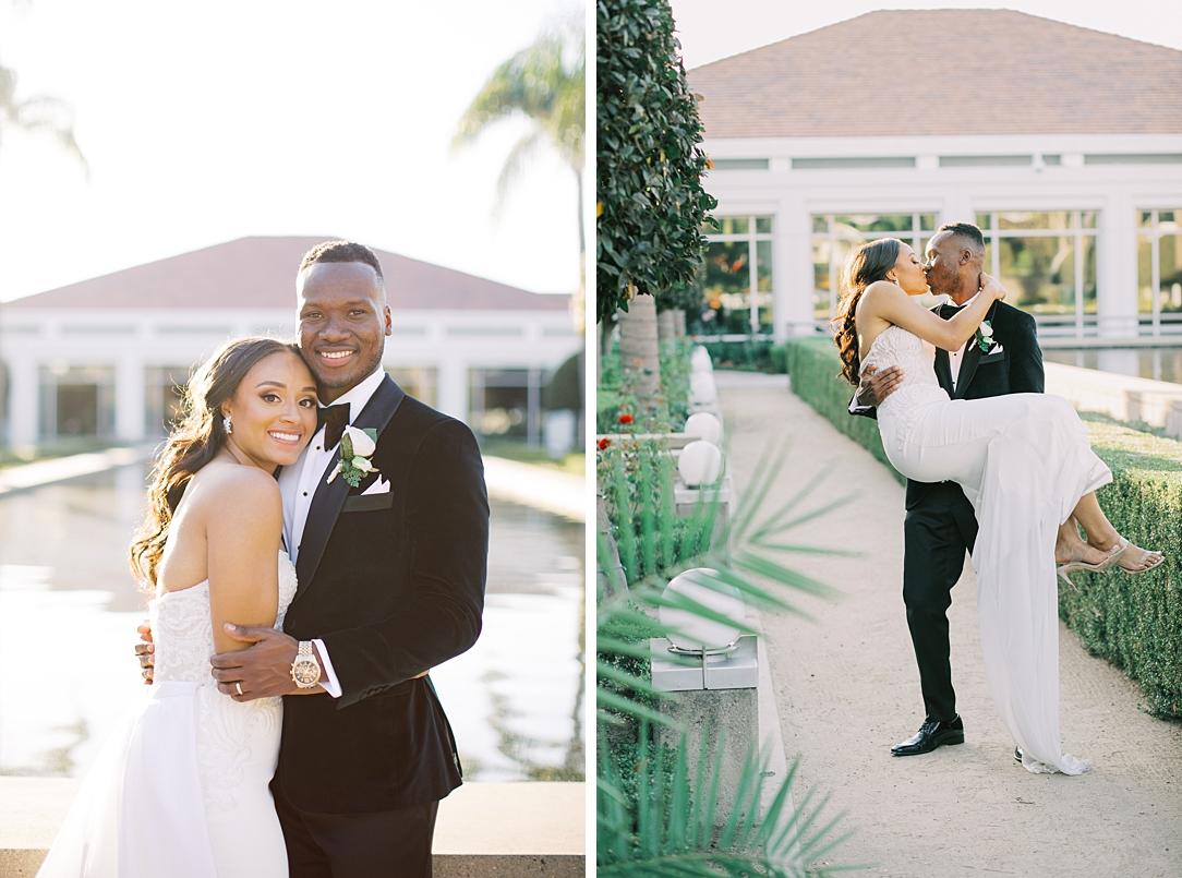 A modern luxurious African inspired fall wedding, in the Richard Nixon Library garden, Yorba Linda by wedding photographer Madison Ellis (3)