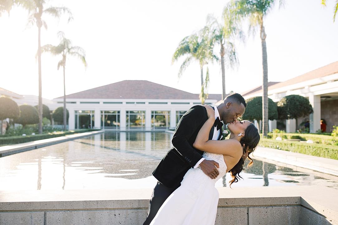 A modern luxurious African inspired fall wedding, in the Richard Nixon Library garden, Yorba Linda by wedding photographer Madison Ellis (100)