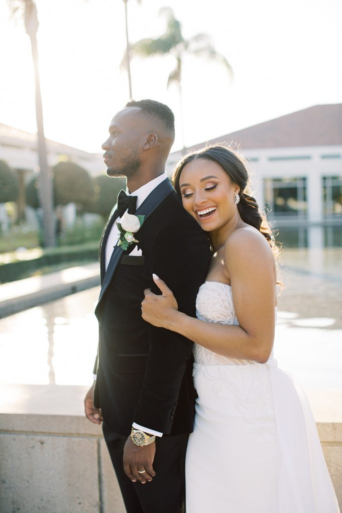 A modern luxurious African inspired fall wedding, in the Richard Nixon Library garden, Yorba Linda by wedding photographer Madison Ellis (98)