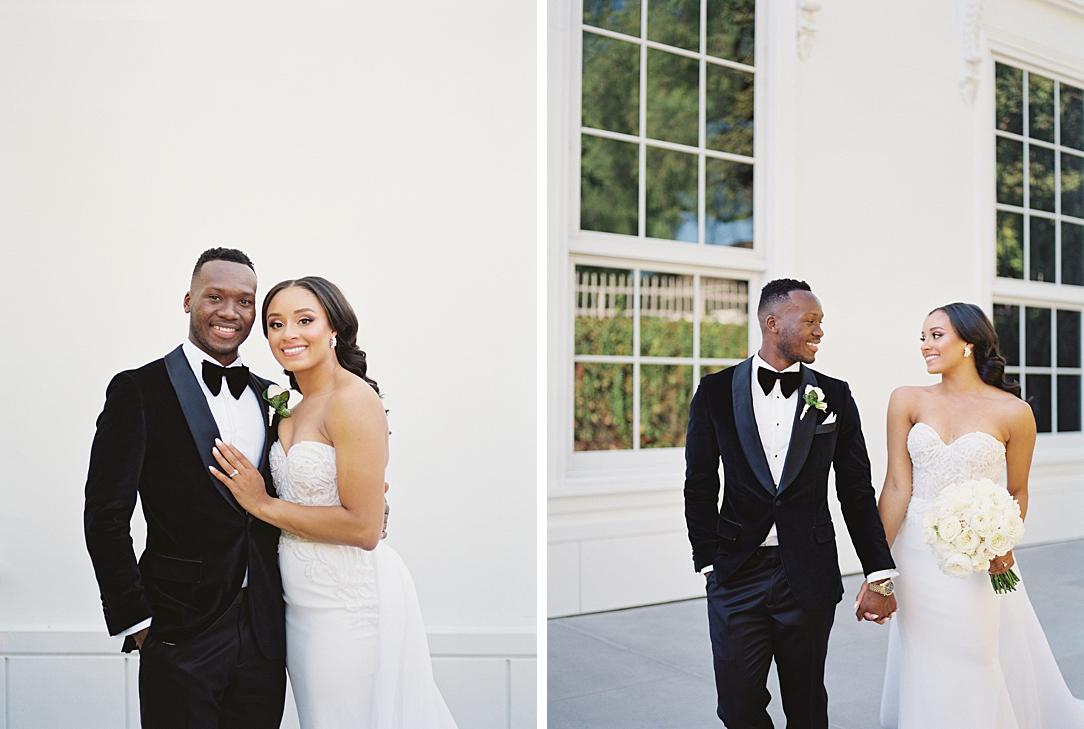 A modern luxurious African inspired fall wedding, in the Richard Nixon Library garden, Yorba Linda by wedding photographer Madison Ellis (4)