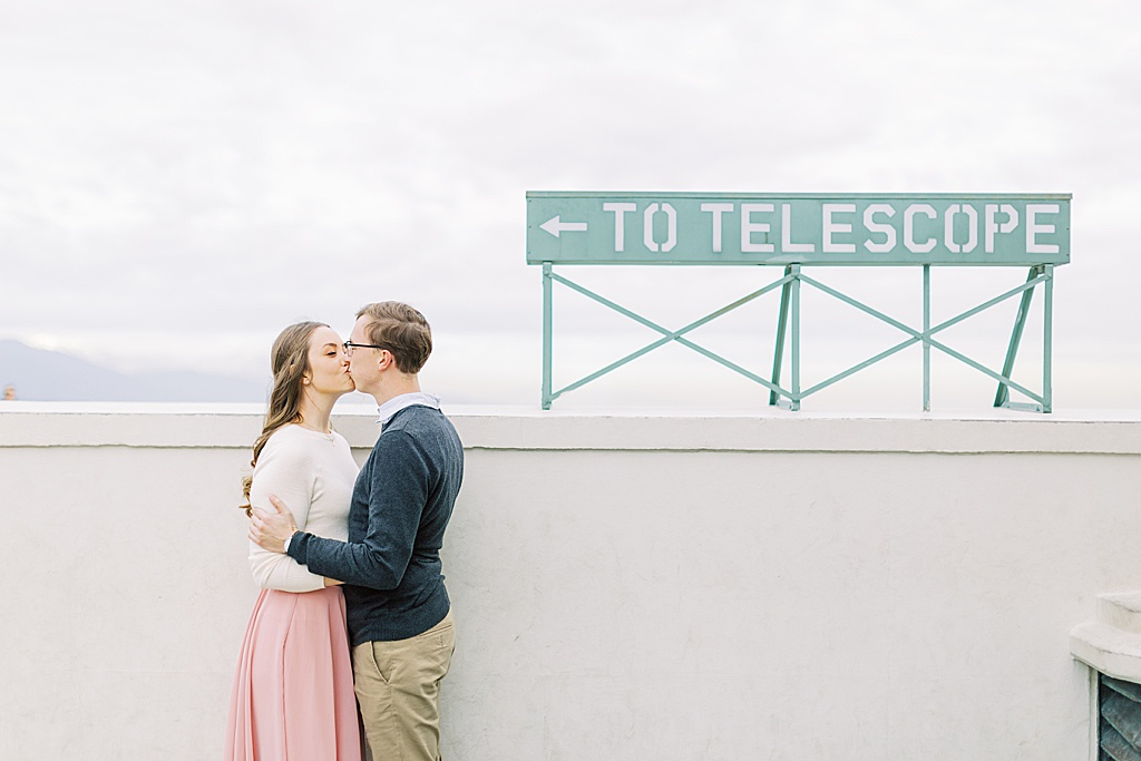 Film Inspired Engagement Session at the Griffith Observatory during sunset (28)
