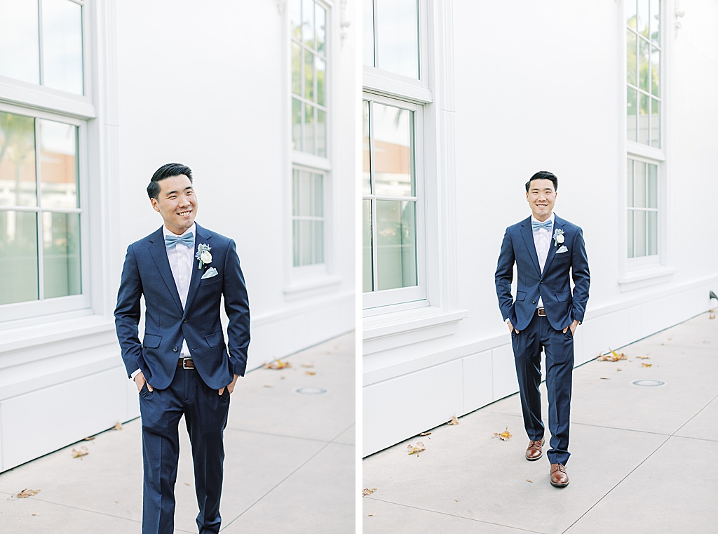A dusty blue film-inspired wedding at the Richard Nixon Library by Madison Ellis Photography (108)