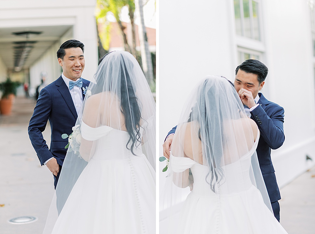 A dusty blue film-inspired wedding at the Richard Nixon Library by Madison Ellis Photography (104)