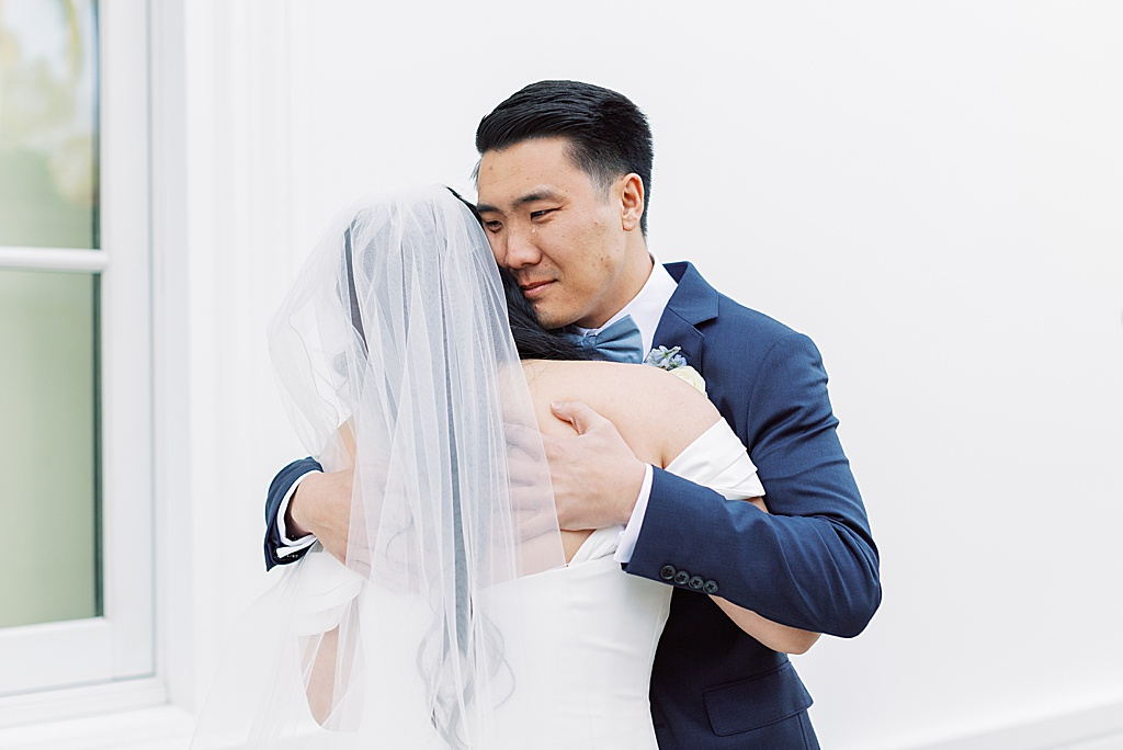 A dusty blue film-inspired wedding at the Richard Nixon Library by Madison Ellis Photography (103)