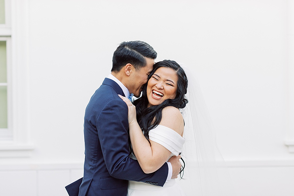 A dusty blue film-inspired wedding at the Richard Nixon Library by Madison Ellis Photography (99)