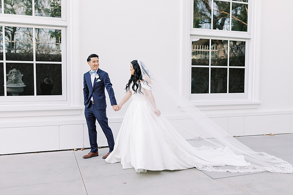 A dusty blue film-inspired wedding at the Richard Nixon Library by Madison Ellis Photography (98)