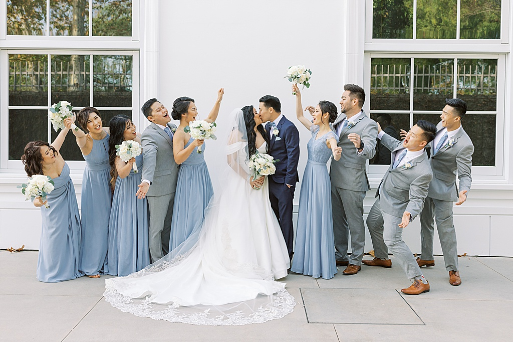 A dusty blue film-inspired wedding at the Richard Nixon Library by Madison Ellis Photography (93)