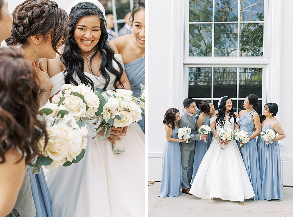 A dusty blue film-inspired wedding at the Richard Nixon Library by Madison Ellis Photography (84)