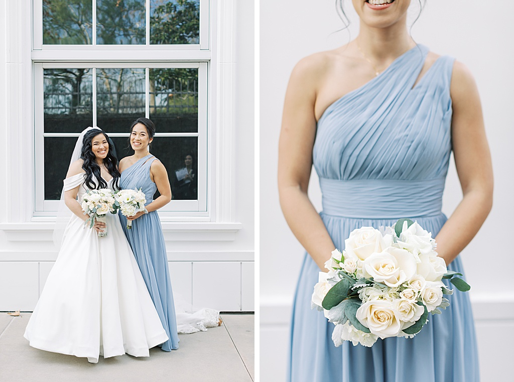 A dusty blue film-inspired wedding at the Richard Nixon Library by Madison Ellis Photography (81)