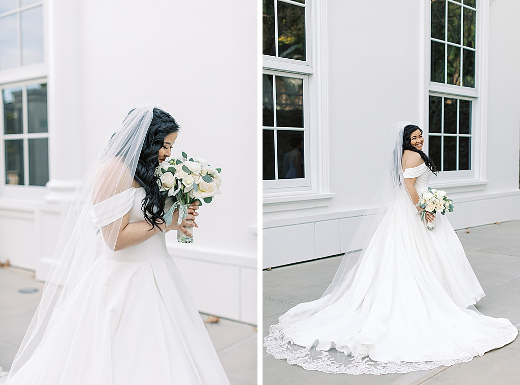 A dusty blue film-inspired wedding at the Richard Nixon Library by Madison Ellis Photography (78)