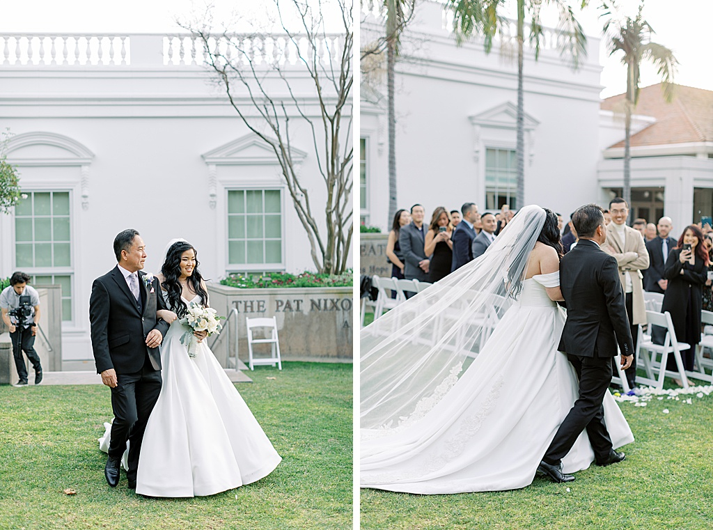 A dusty blue film-inspired wedding at the Richard Nixon Library by Madison Ellis Photography (67)