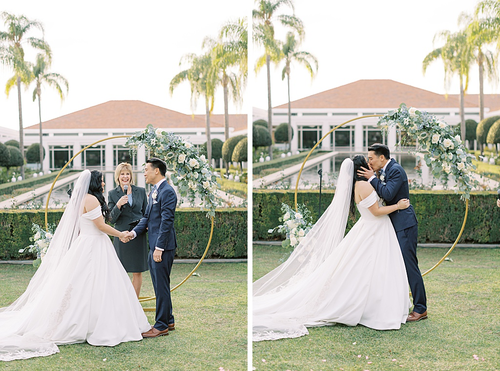 A dusty blue film-inspired wedding at the Richard Nixon Library by Madison Ellis Photography (57)
