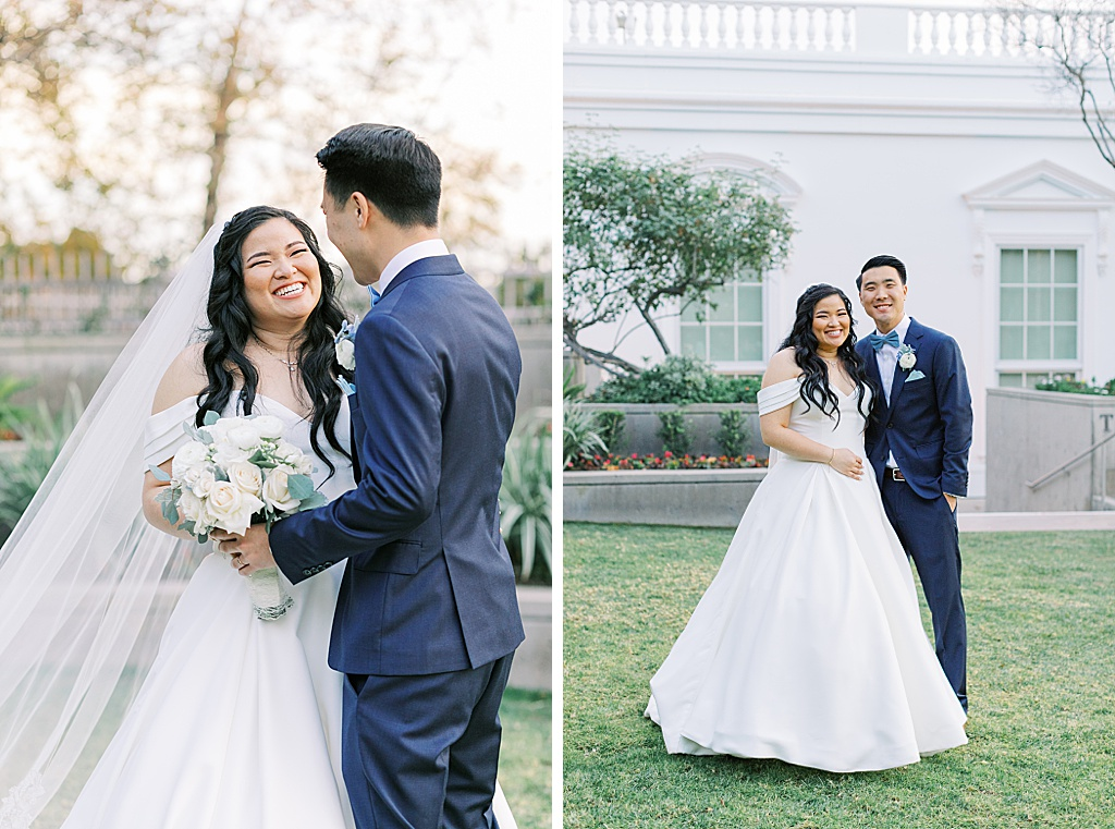 A dusty blue film-inspired wedding at the Richard Nixon Library by Madison Ellis Photography (49)