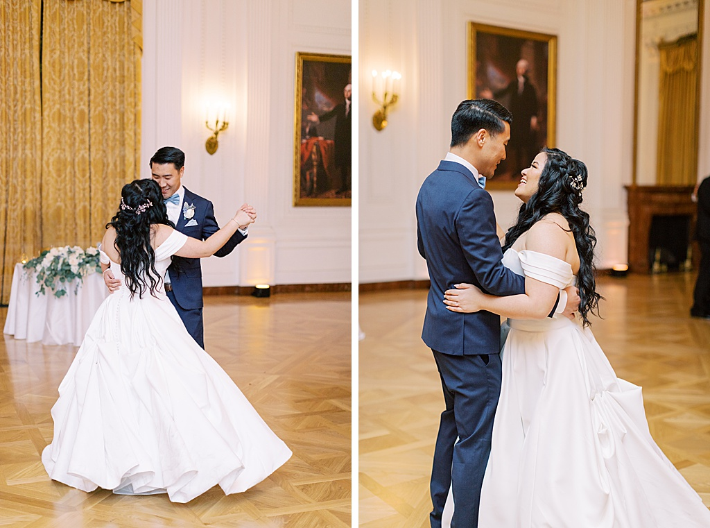 A dusty blue film-inspired wedding at the Richard Nixon Library by Madison Ellis Photography (39)