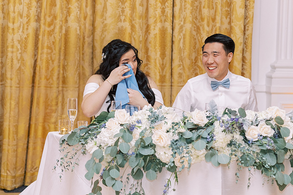 A dusty blue film-inspired wedding at the Richard Nixon Library by Madison Ellis Photography (30)