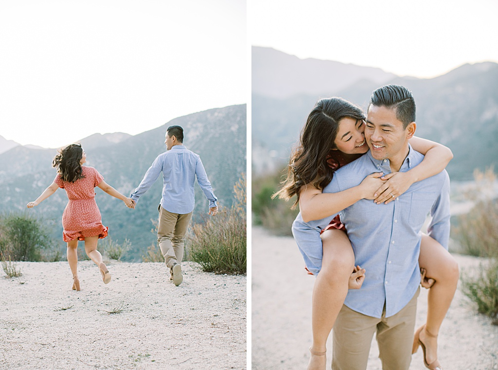Scenic engagement session with city and mountain views in the Los Angeles National Forrest by Madison Ellis Photography (3)