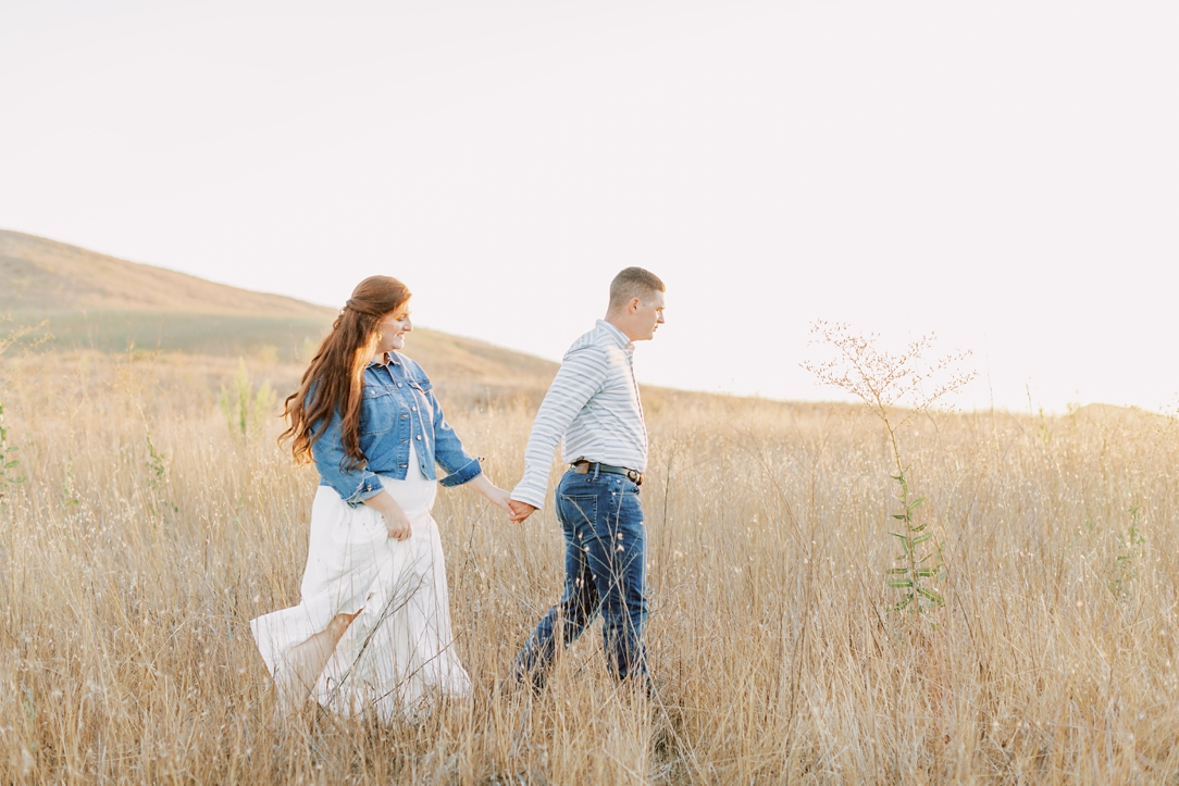 Golden Grass Engagement Session by Madison Ellis Photography