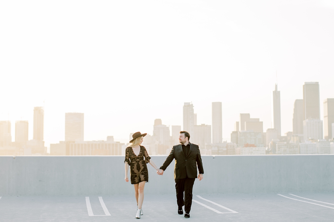 DTLA Rooftop Engagement Session By Madison Ellis Photography