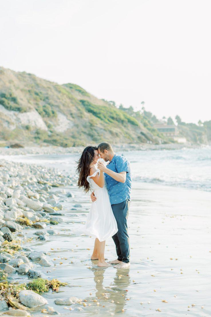Palos Verdes Beach Engagement Session: Chris & Megan